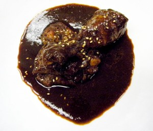 mole poblano, also known as mole negro