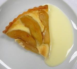 Alsace Apple Tart with custard sauce