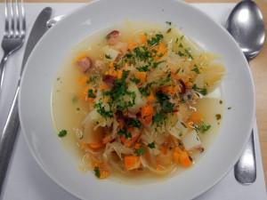 Sauerkraut & smoked sausage soup