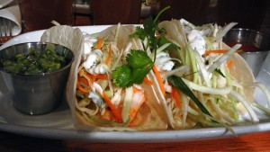 Fish tacos to absorb some of the beer at the Big Ridge Brewing Cask Fest