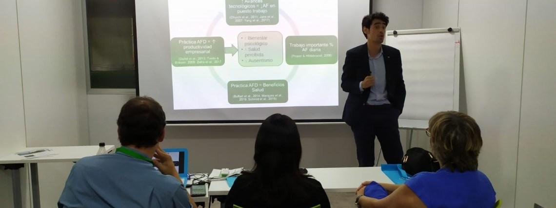 Víctor Jiménez profesor de CAFD de la UCJC en el II Congreso Prevencionar