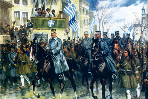 Greek troops of the balkan wars Conference to discuss Greece, Balkan Wars, liberation of Macedonia