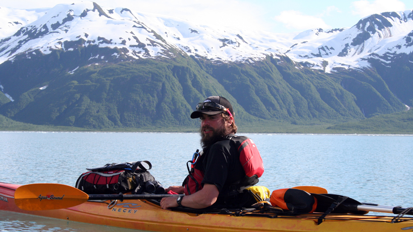 Bobby Schultz as a sea kayak guide in Alaska
