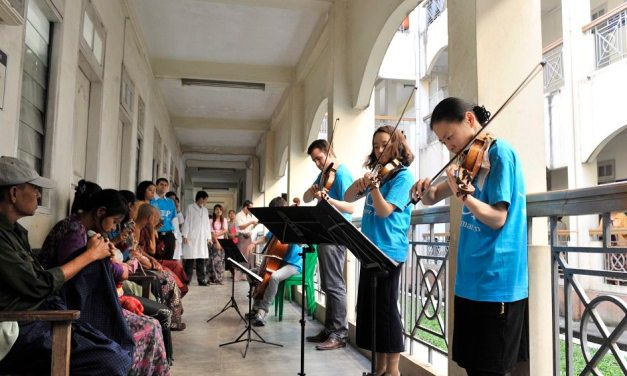 Midori brings music, youth and a message of peace to Myanmar