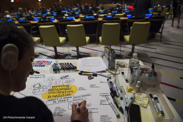 Scribing at the #GlobalGoals Summit
