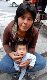 Marisol with her baby, Diego