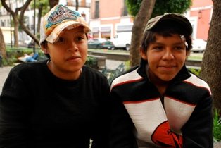Lupita (15) and Adrian (14) - she is pregnant with their first child