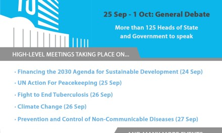 Coming Up at the #UNGA on Monday