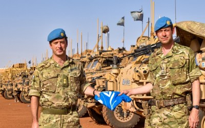 Taking over command of the UK's Long Range Reconnaissance Group in Mali