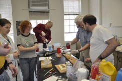 Nick helping lead a molding and casting workshop