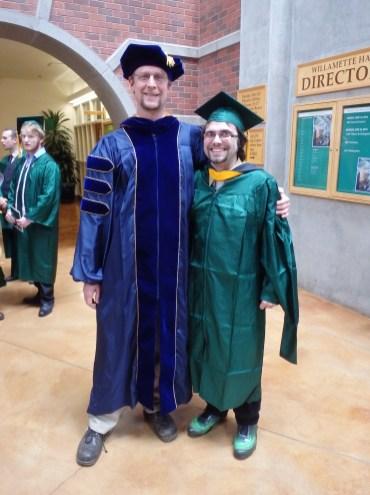 John Jacisin and Dr. Davis at John's MS graduation in 2013