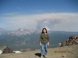 Honglian Gao and wildfire plume 9-2012