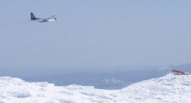 The C130 flying by Mt. Bachelor Observatory, 2013