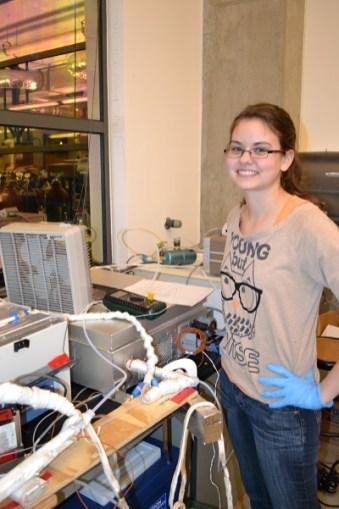 Crystal McClure in UWB lab, 2011