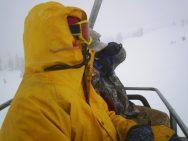 Dan Jaffe on chairlift