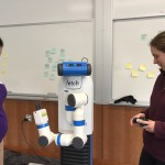 Robot is being controlled by researchers