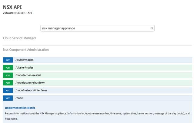 NSX-T API Explorer Example
