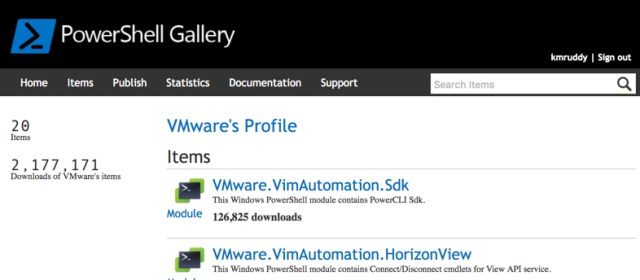 VMware Profile on PowerShell Gallery