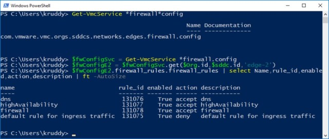 Example: Firewall Rule Discovery
