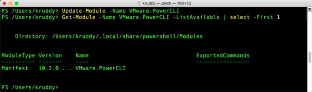 Update-Module VMware.PowerCLI