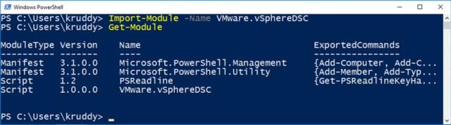Example: Importing the VMware.vSphereDSC Module