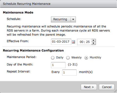 Recurring-maintenance