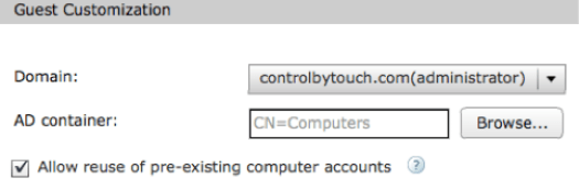 Reuse existing computer account