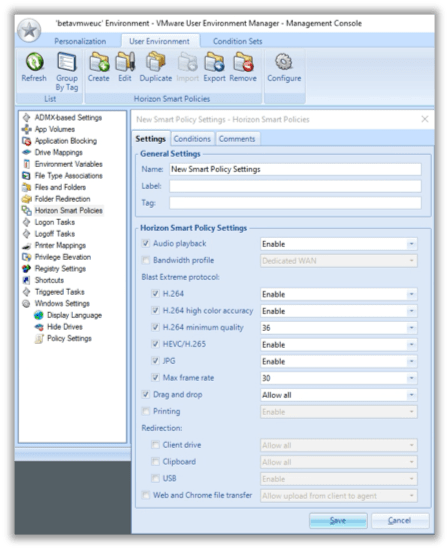 User Environment Manager 9.8
