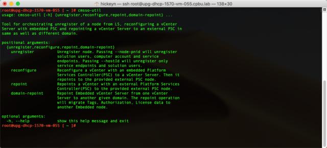 vSphere 6.7 SSO Domain Repointing