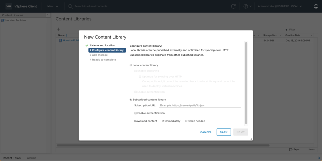 Managing Content Library 6.7