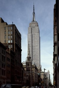 The Empire State Building from ground level.  (Carol M. Highsmith)