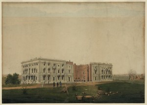George Munger's painting of the U.S. Capitol after the burning of Washington.  (Library of Congress)
