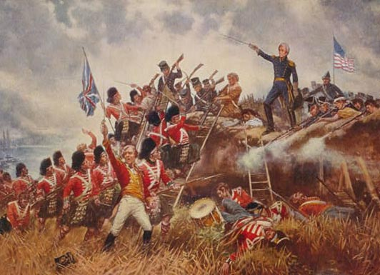 Another Percy Moran painting, this time an idealized look at Andrew Jackson's commanding presence at the Battle of New Orleans.  (Library of Congress)