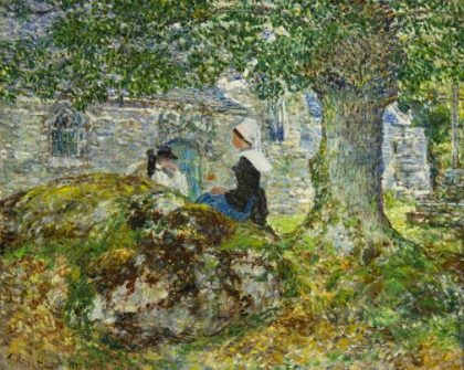 "Frederick Childe Hassam's ""In Brittany (Pont Aven)"""