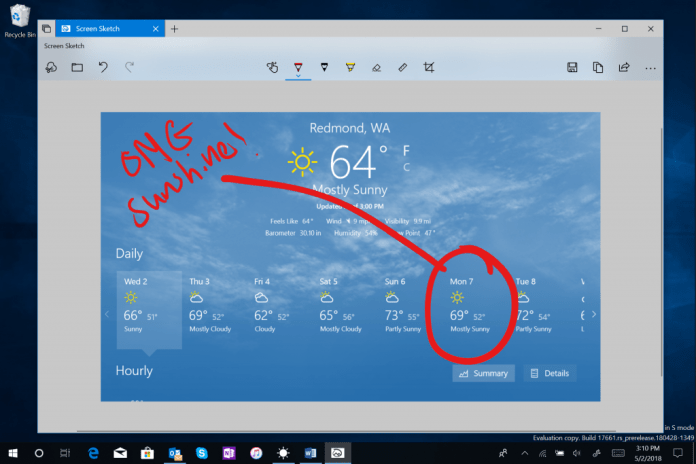 Originally introduced as part of the Windows Ink Workspace, Screen Sketch is now its own app which comes with a variety of benefits including that it can now be updated via the Microsoft Store.