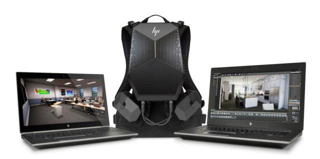 HP Zbooks and HP VR Backpack