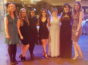 3rd year physics girls at winter ball! :)