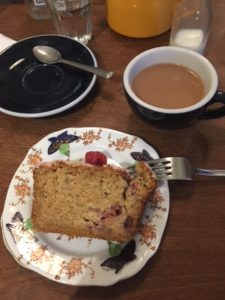 Tea and cake in a York cafe