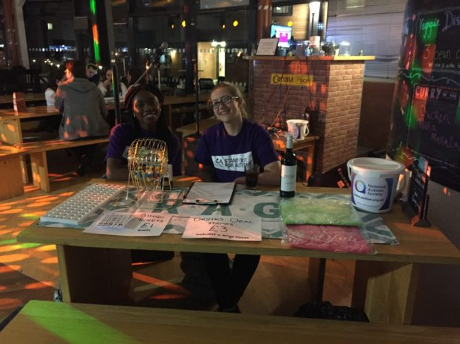 Hosting a bingo/karaoke night on campus for charity