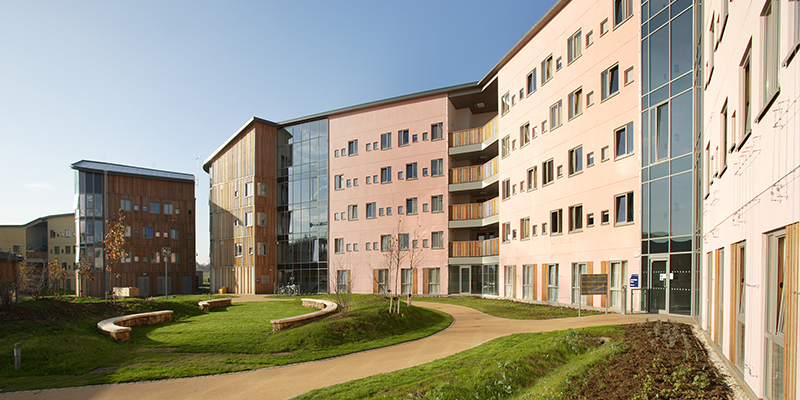 Campus East accommodation has a very modern feel to it