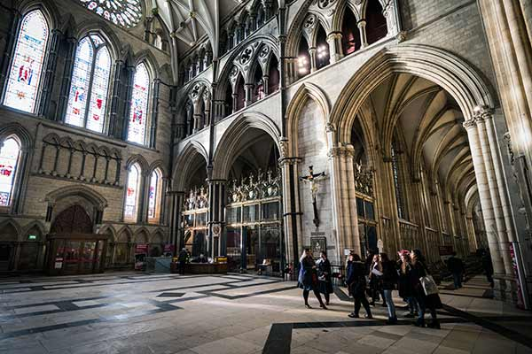 Look forward to History of Art at York - group of students in York Minster.