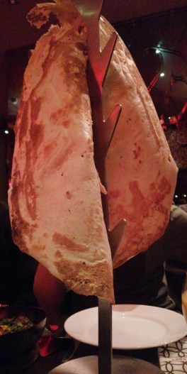 Naan bread served at Akbar's restaurant