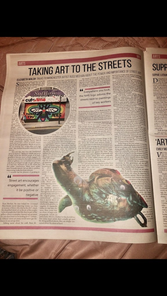 A photograph of a printed article in Nouse