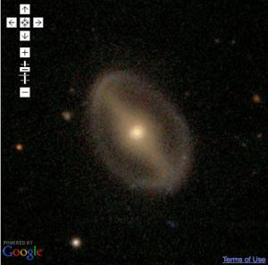 GZ2 Galaxy as seen in Google Maps