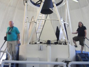 Bill and stuart with the 2.1 meter telescope