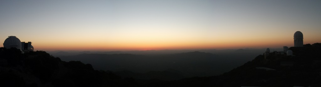The Sun sets over Kitt Peak