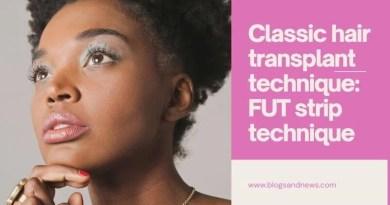Classic hair transplant technique: FUT strip technique
