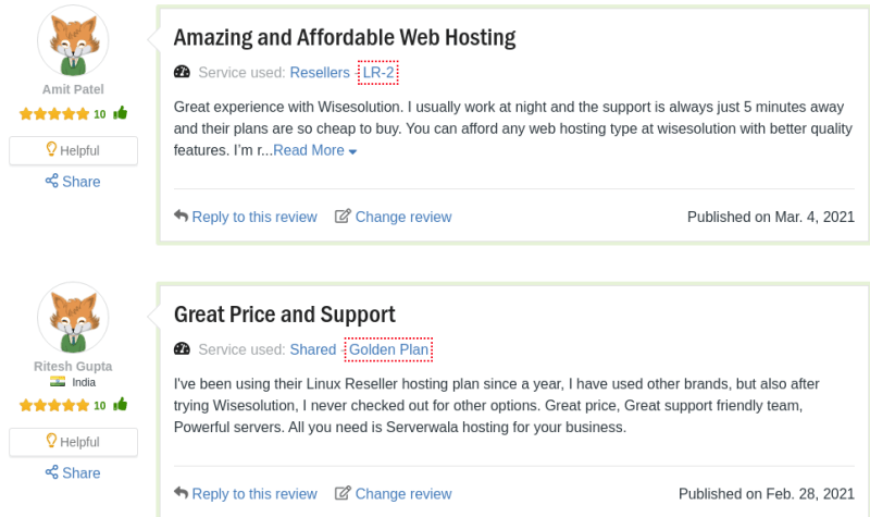 Wise solution customer reviews