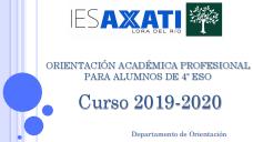 Orientación académica profesional para alumnos de 4º ESO