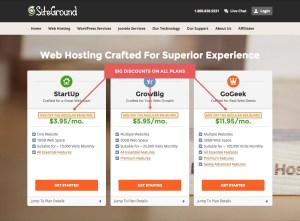Web host costs